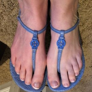 Tory Burch Emmy Stitched Strappy Sandals 9.5